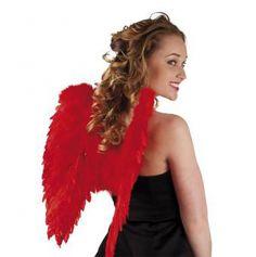 Accessoire ailes d'ange rouges pliables