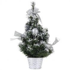 Mini Sapin de Noël de Table - Argent