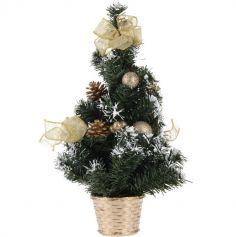 Mini Sapin de Noël de Table - Or