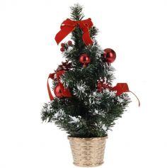 Mini Sapin de Noël de Table - Rouge
