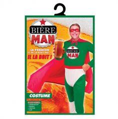 Déguisement de Bière Man pour homme - Taille Unique