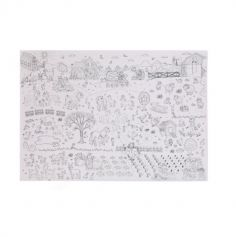 Poster à colorier Ferme - 100x70cm