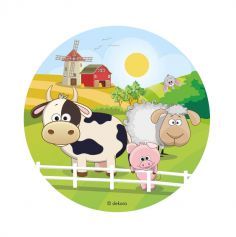 disque azyme animaux de la ferme | jourdefete.com