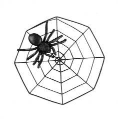 toile noire pailletee avec araignee - 43 cm | jourdefete.com