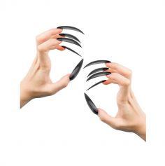 10 faux ongles de sorcieres longs et noirs | jourdefete.com