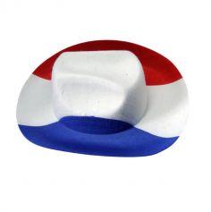 chapeau cowboy tricolore france | jourdefete.com
