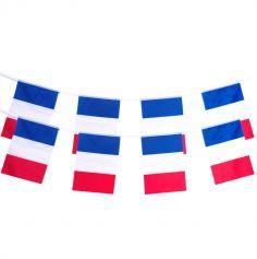 guirlande en polyester 15 pavillons france | jourdefete.com
