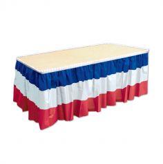 jupe de table plastique tricolore france | jourdefete.com