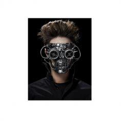 Demi Masque Tête de mort futuriste pour Adulte
