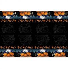 nappe plastique halloween citrouilles demoniaques | jourdefete.com