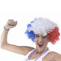perruque afro tricolore france | jourdefete.com