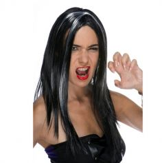 perruque sorciere adulte avec meches blanches | jourdefete.com