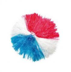 pom-pom raphia en nylon tricolore bleu blanc rouge | jourdefete.com
