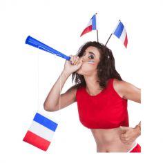 trompe de supporters avec drapeau francais | jourdefete.com