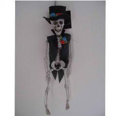 Squelette de marié et ses fleurs