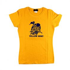 T-Shirt Jaune Yellow Army Femme - Taille au Choix