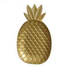 Assiette decoration ananas - Or | jourdefete.com