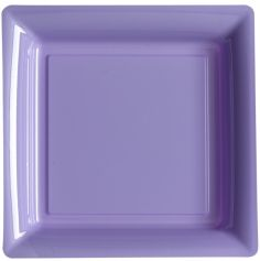 12 Assiettes Cocktail Carrée en Plastique - Parme