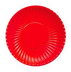 10 Assiettes en Carton Rouges - 23cm