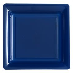 12 Assiettes Plastique - Bleu Marine