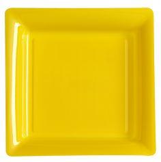 12 Assiettes Plastique - Jaune