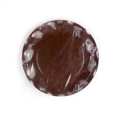 10 Grandes Assiettes Vagues Marrons