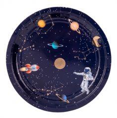 assiettes-carton-espace-etoiles-planetes | jourdefete.com
