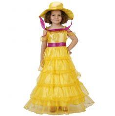 Déguisement princesse fille jaune