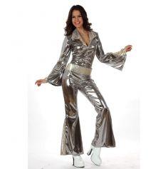 Déguisement Disco Combinaison Argent Femme