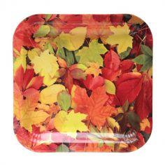 assiettes-carrees-feuilles-automnes | jourdefete.com