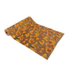 chemin-table-velours-feuilles-automne-pailletées | jourdefete.com