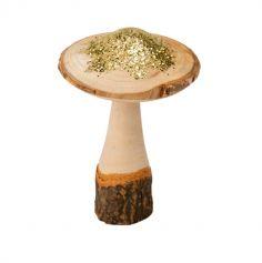 champignon-bois-paillettes-or | jourdefete.com