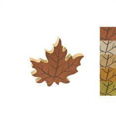 grande feuille automne en bois | jourdefete.com