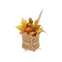 pot automne jute et rafia | jourdefete.com