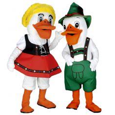 Mascottes Couple Canard