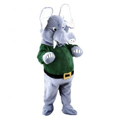 Mascotte Eléphant Pull Vert