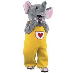 mascotte elephant jaune amoureux