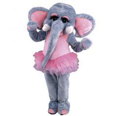 mascotte éléphant danseuse