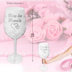 Flûte de Champagne géante - Vive les mariés