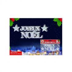 """Décoration Totem """"Joyeux Noël"""" - Argent"""