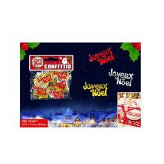 """Confettis de Table """"Joyeux Noël"""" - Rouge / Or / Argent"""
