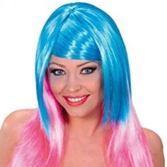 Perruque Femme Bicolore - Rose et Turquoise
