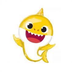 ballon aluminium baby shark jaune | jourdefete.com