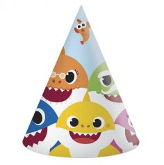 6 Chapeaux Pointus en carton FSC® - Baby Shark™