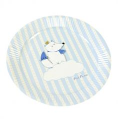 6 Assiettes à Dessert en Carton - Baby Shower - Renard Bleu| jourdefete.com