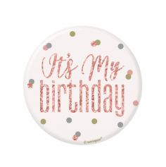 badge-anniversaire-glitz-rose-gold | jourdefete.com