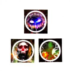 Badge lumineux d'Halloween à coller - Motif au choix