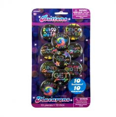 Pack de 10 badges - Disco fever