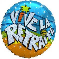"""Ballon Hélium """"Vive la Retraite"""""""