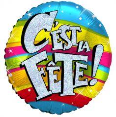 """Ballon Hélium """"C'est La Fête"""""""